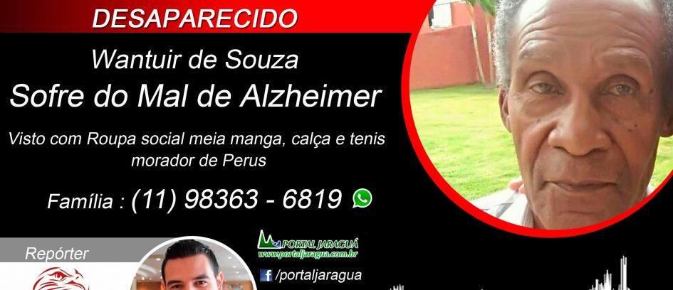 ENCONTRADO - Wantuir de Souza 81 anos sofre de Mal de Alzheimer