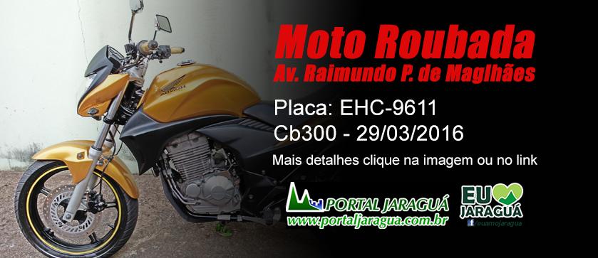 Moto Roubada - Av. Pereira de M. 01/04/16 - EHC-9611