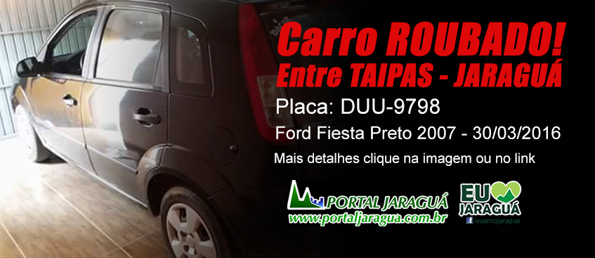 Carro Roubado - Taipas-Jaraguá 30/03/16 - DUU-9798