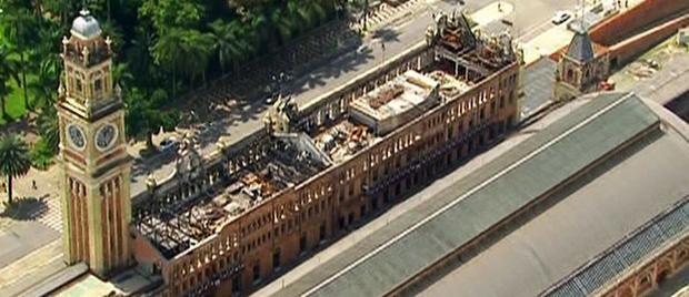 Fechado após incêndio em museu, acesso à Estação da Luz é reaberto