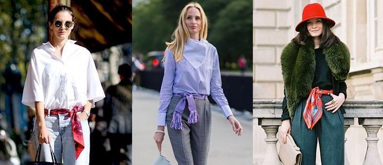 6 maneiras inspiradoras de usar lenços como cinto